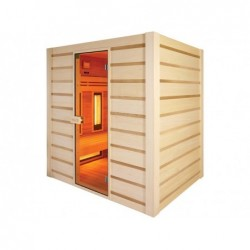 Sauna Hybrid Infrarouges Et Traditionnel 190 Cm