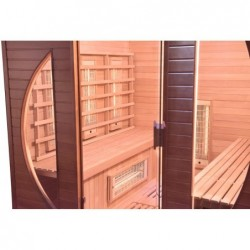 Sauna Infrarouges Spectra De 4 Places 200 Cm | Piscineshorssolweb