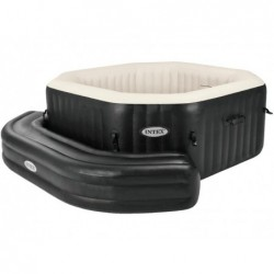 Purespa Banc Gonflable Octogonal Couleur Noir Intex 28510 | Piscineshorssolweb