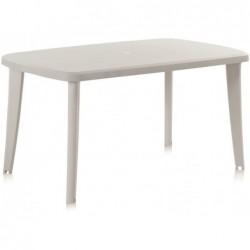 Mobilier de Jardin Table Modèle Tonelle Blanche SP Berner 55125