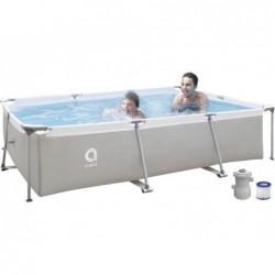 Piscine démontable avec filtre 1136 L. Jilong 17771EU Steel Super Rectangular Pool 300x207x65 cm.