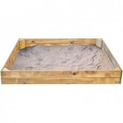 Bac à sable enfant de 150x150 cm. Basic L de Masgames MA600051