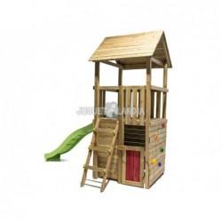 Parc enfant Canigo L avec Balançoire Individuelle et petite maison de Masgames MA700207