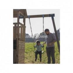 Parc enfant Canigo L avec Balançoire Individuelle et petite maison de Masgames MA700207 | Piscineshorssolweb