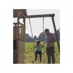 Parc enfant Pagoda L avec Balançoire Individuelle de Masgames MA811611   Piscineshorssolweb