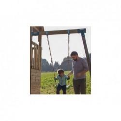 Parc enfant Crossfit XL avec Balançoire Individuelle et Tobogan de Masgames MA802911   Piscineshorssolweb