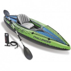 Kayak Gonflable Challenger K1 De 274x76x38 Cm Intex 68305