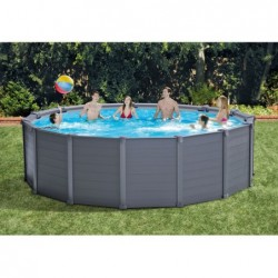 Piscine Hors Sol Intex 26384np Graphite Gray Panel 478x124 Cm | Piscineshorssolweb
