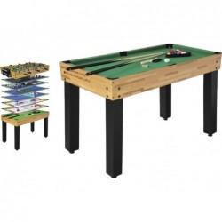 Table Multijeu 12 en 1 Particulier 124x61x81 cm