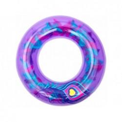 Bouée Gonflable Violette Avec Plumes De 91 Cm. Bestway 36153