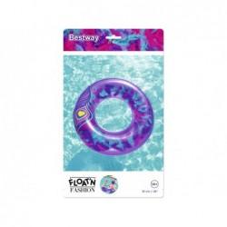 Bouée Gonflable Violette Avec Plumes De 91 Cm. Bestway 36153 | Piscineshorssolweb