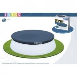 Bâche De Protection Pour Piscine Autoportante Circulaire Intex Easy Set Ref 28023 457 Cm | Piscineshorssolweb